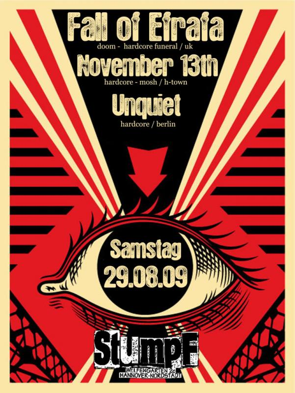 fall of efrafa, november 13th, unquiet, 29.08. stumpf hannover